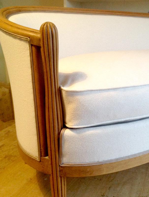 Canapé «tonneau» Art Déco
